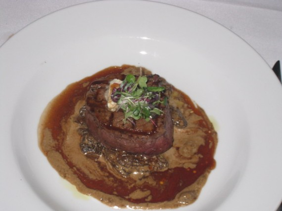 Filet Mignon with morels, truffle butter, Chez Spencer, SF CA