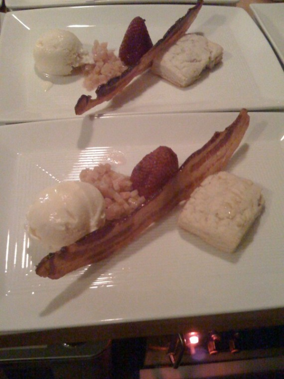 Bacon Ice Cream, Bacon, Bacon Biscuit - Dissident Chef