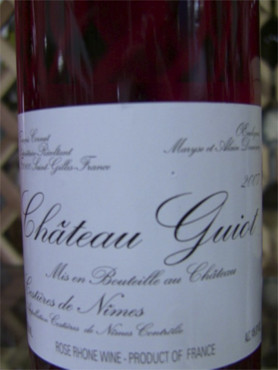 Chateau Guiot Rose (grenache/syrah) from House of Wines SF