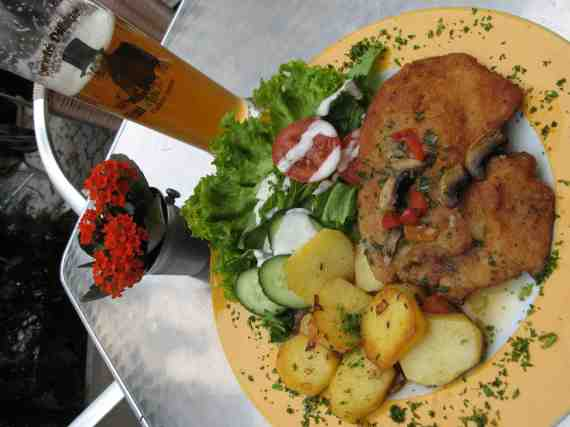 Perhaps the Best Schnitzel in Leipzig Germany